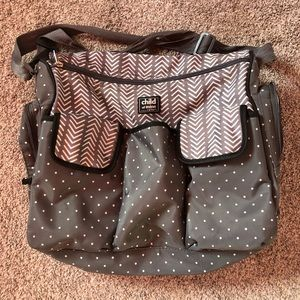 Carters child of mine gray diaper bag neutral
